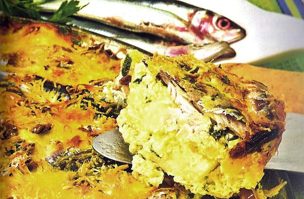 Omelette de pomme de terre aux sardines