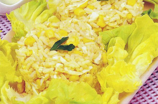 Recette de la salade de riz au thon