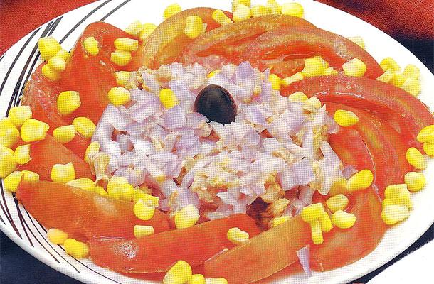 Recette de la salade de tomates au thon