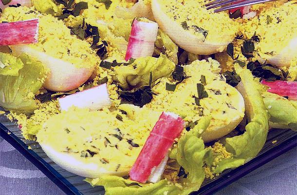 Recette de la salade mimosa