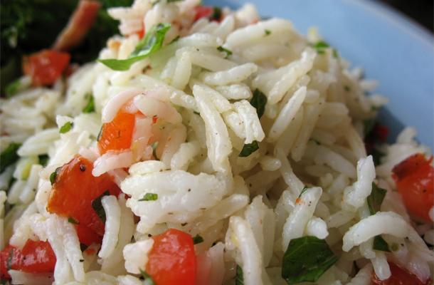 Recette de la Salade de riz aux légumes