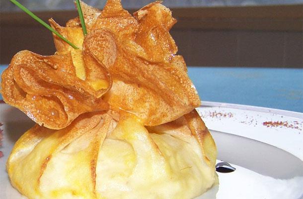 Recette aum ni res de brick croustillant aux pommes et au foie gras blog - Cuisiner la feuille de brick ...