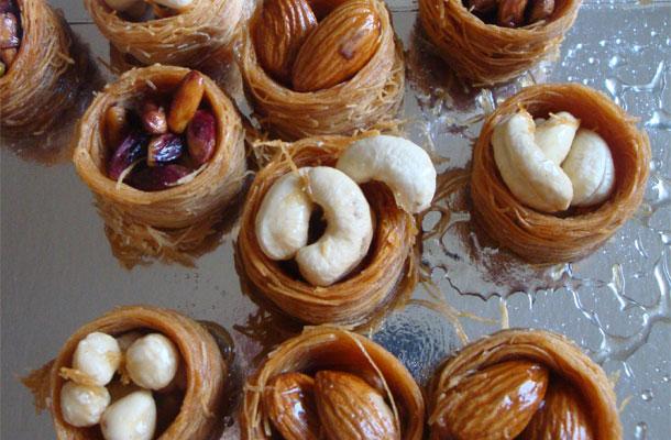 Recette de Pâtisserie turc le nid de cheveu d\u0027ange aux fruits secs