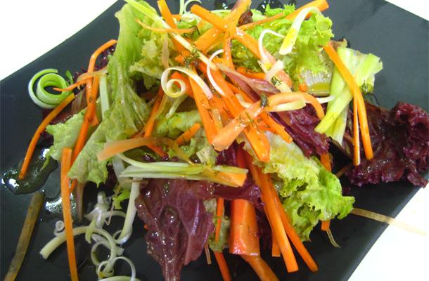 Recette de salade composée aux divers légumes