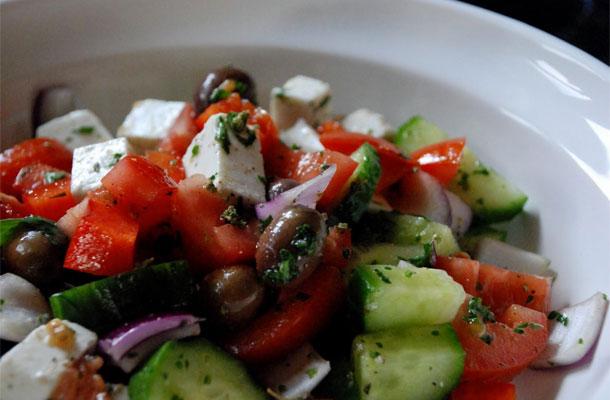 Recette de la salade grecque à la feta