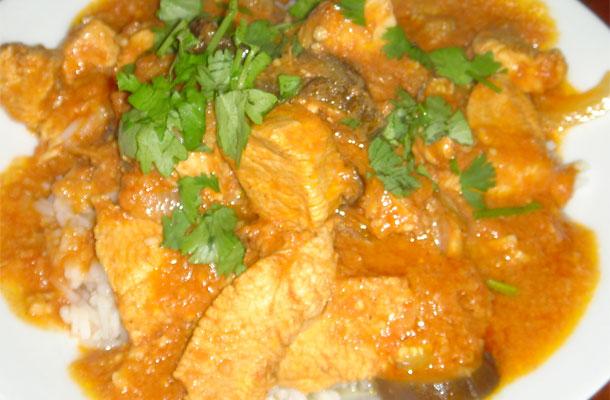 Recette du poulet à l'indienne