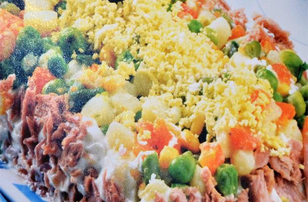 Salade à la sauce de pommes de terre