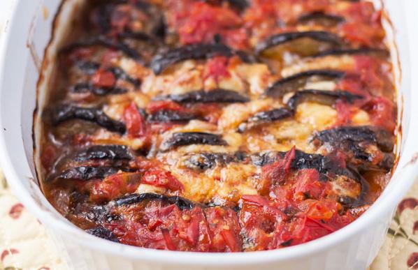 gratin d'aubergines aux tomates
