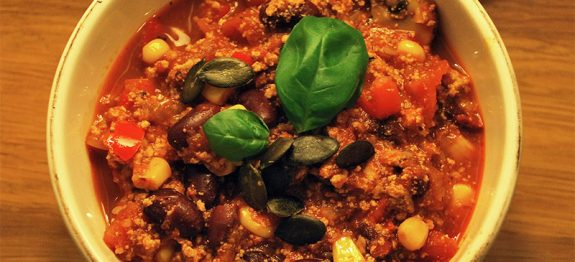 Recette Chili sin carne Vegan