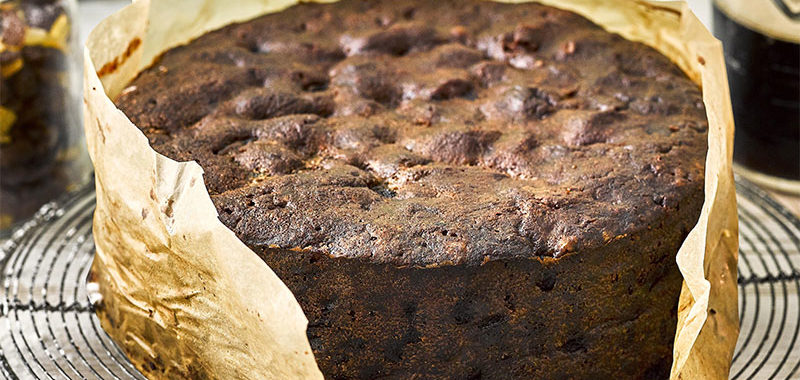 Le Christmas cake ou gâteau de noël traditionnel anglais